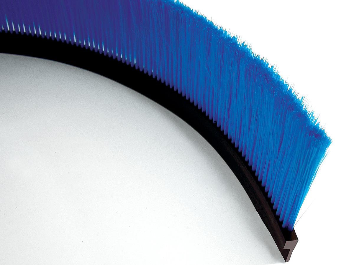 Spazzole flessibili con profilo in gomma