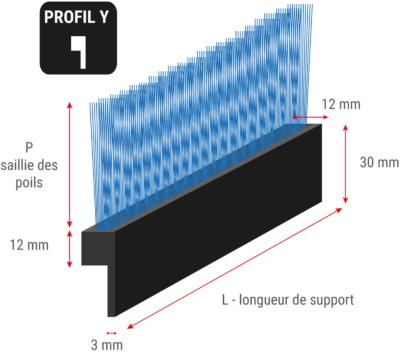 Brosses flexible en listeau avec profil en Y
