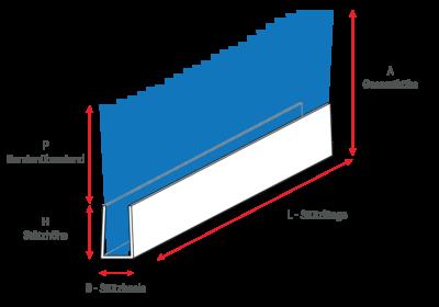 Streifenbürsten mit Metallprofil für Vordertüren und über und über Türen